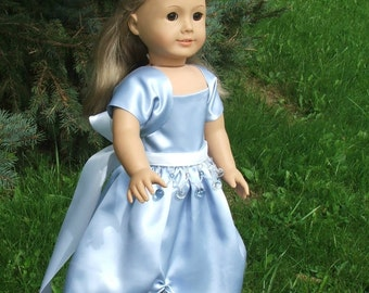 Sky Blue Dress, Shrug and Belt for  American Girl