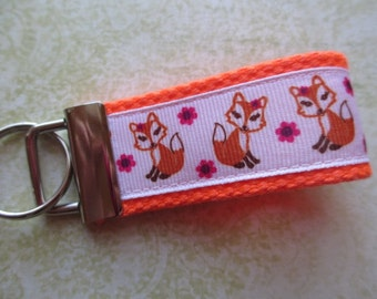 ORANGE SASSY FOX Mini Key Fob - Party Favor