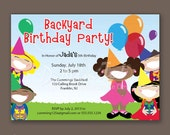 Smile Kids Balloon Party - Birthday Party Invitations - African American