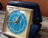 Forestville Travel Clock. Vintage German Clock. Vintage Alarm Clock