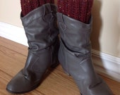 Reserved for assyla89----  Boot cuffs -- Leg warmer -- boot topper -- red wine -- tricot -- LARGE