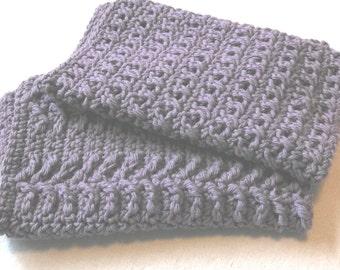 Lavender Crocheted Wash Cloths Set of 2