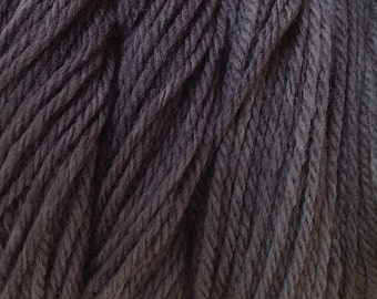 Smoke Gray Sport DK Weight Hand Dyed Merino Wool Yarn Hand Painted