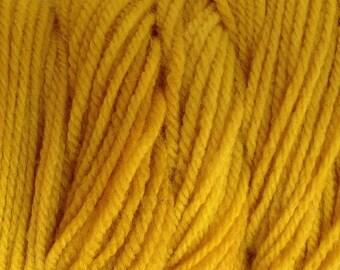 Cab Yellow DK Sport Weight Hand Dyed Merino Wool Yarn