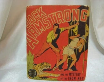 Vintage Jack Armstrong and the Mystery of the Iron Key The Better Little Book #1432  From 1939