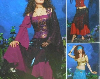 Gypsy Costume Sewing Pattern UNCUT Simplicity 0583 Sizes 6-12