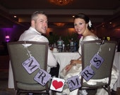 Mr and Mrs Chair Sign Banner Photo Prop Sign Wedding Sign Banner Mr Mrs Wedding Bridal Shower Decoration Match Your Event or Party