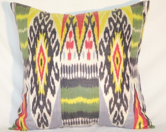 multicolored IKAT PILLOW case 20 x 20 inch, Ikat Pillow cover, decorative pillows, Accent Pillows, Throw Pillows, best prices for all ikats