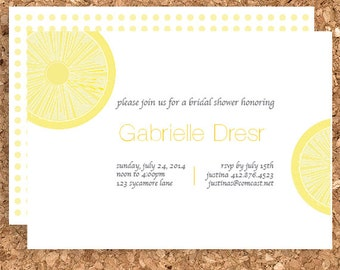 DIY Lemon Drop Design (Printable Wedding, Baby Shower, or Birthday Invitation)