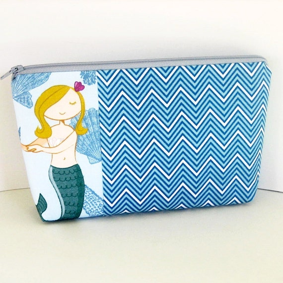 Sweet Lorelei Mermaid Cosmetic Zipper Pouch