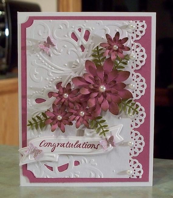 floral congratulations card wedding anniversary