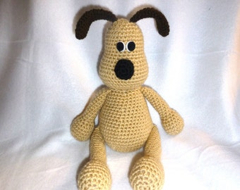 Crochet Brown and Beige Dog Puppy Plush
