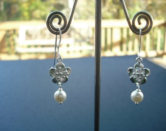 cherry blossom earrings - sterling silver ear wires
