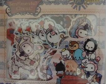 San-X Sentimental Circus Sticker Sack - A