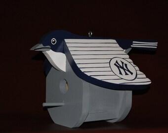 New York Yankee Birdhouse. Free Shipping