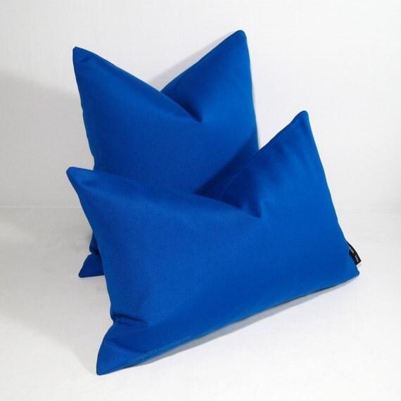 Cobalt Blue Throw Pillow Covers : Cobalt Blue Pillow Cover, Decorative Blue Outdoor Decor, Modern Throw Pillow Case, Masculine ...