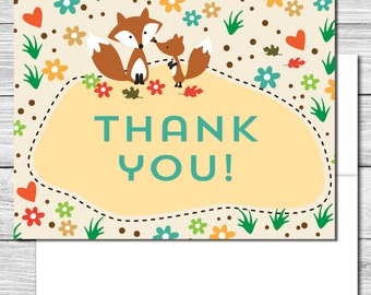 Thank you Notes---Woodland Creatures Party--503S