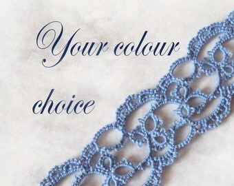 Custom Lace Bookmark - Your Choice of Colour - Emily (one colour)