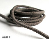 Wrapped cotton cord, cotton rope, grey brown, 1 meter