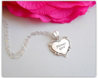 Flower Girl Necklace All Sterling Silver N081