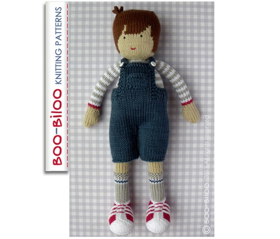 Knitting Pattern Boy Doll : Ralph boy doll toy knitting pattern