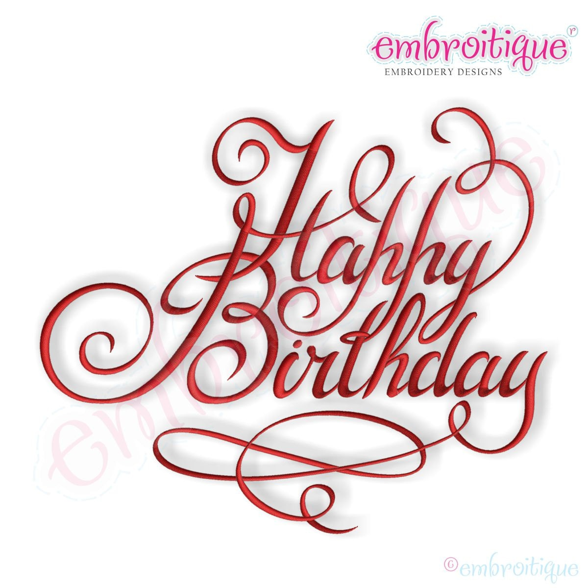 Happy Birthday Calligraphy Script