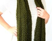 Christmas , Warm Scarf ,Wool Scarf ,Women Scarf ,green scarf