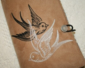 Shadow Swallows Embroidered Book Cover