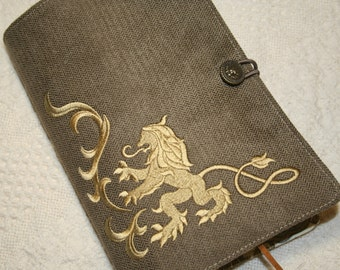 Rampant Lion Embroidery Book Cover