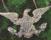 RESERVED for Marlon! Brass Eagle Necklace