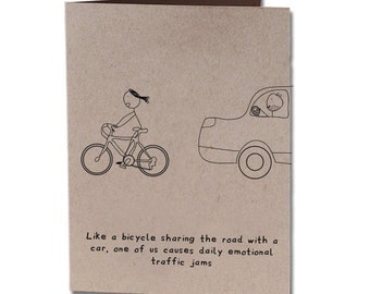 Thank You Humor Greeting Card Bicycle