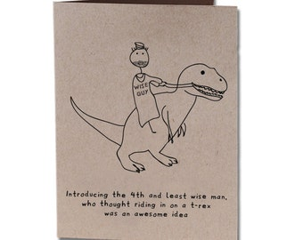Christmas Holiday Humor Greeting Card Dinosaur