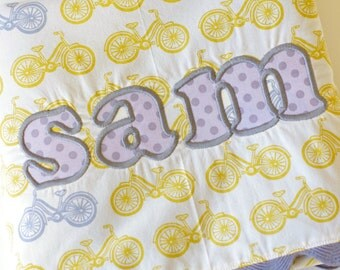 Applique/Monogrammed, Personalized, Minky Baby Blaket (two sizes)