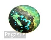 Tempest Green Opal round Glass opal Cabochon (3 Piece,6 size options) Galaxy jewel gem for wedding,cosplay,elven costume,steampunk jewelry