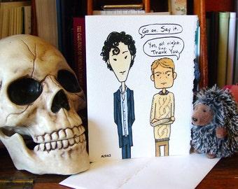 Sherlock Thank You Card v2 - BBC Sherlock Holmes and John Watson
