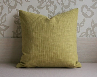 Pastel Green Pillow Decorative Throw Pillow Cover 22'' x 22'' (56 cm x 56 cm) Upholstery Fabric
