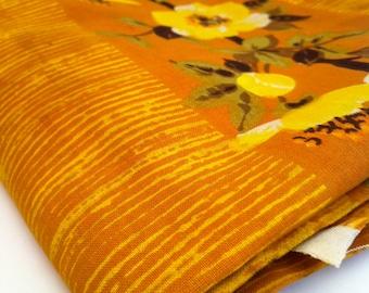YELLOW BLOSSOM vintage cotton fabric