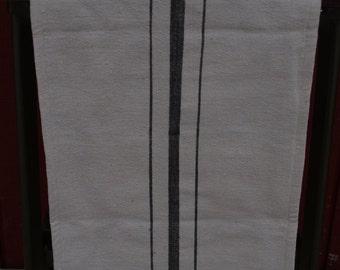 """French Grainsack Style Table Runner -Black 18 x 65"""""""