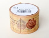 Limited Edition mt Japanese Washi Masking Tape - Encyclopedia of Shells