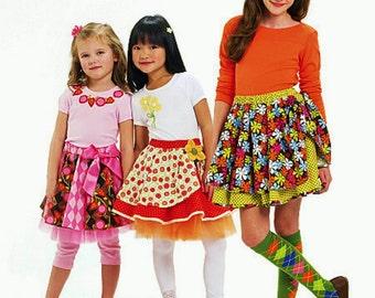 Girls' Twirly Skirt Pattern, Girls' Leggings Pattern, Child's Tulle Petticoat Pattern, McCall's Sewing Pattern 6066