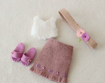 Bohemian Outfit pdf Pattern for Pocket Poppet Doll