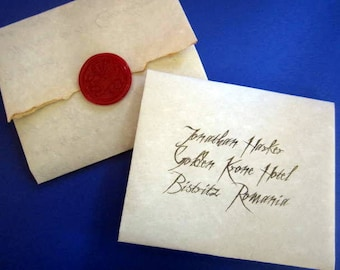 Dracula's Letter to Jonathan Harker Replica Prop - Personalized