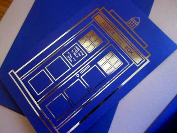 12 Doctor Who Tardis Birthday Invitations or Save the Dates
