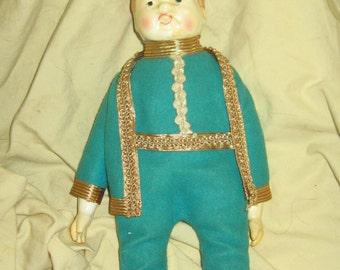 antique porcelain  boy doll