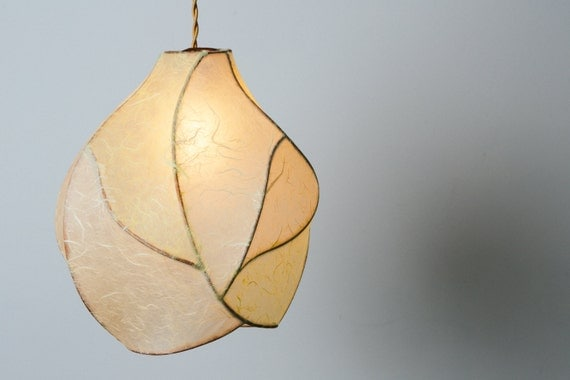 Items Similar To The Firefly Copper And Paper Pendant Light In Cream And Pa