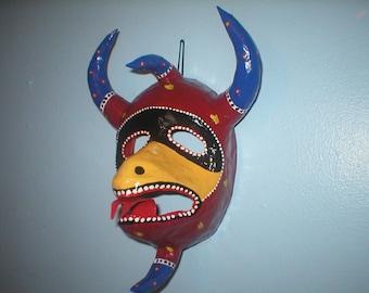 Handmade Papier Mache Puerto Rican Vejigante Mask