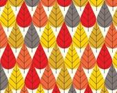 FLANNEL Organic Cotton Fabric- Birch - Charley Harper- OCTOBERAMA fall - Great Shipping Rates