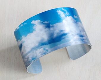 Cloudscape - Aluminum Cuff Bracelet