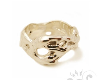 """Ring """"Coulure"""" Argentium Made in NYC"""