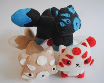 Kitsune Plush CHOOSE YOUR COLORS